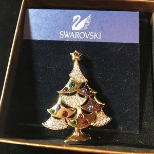 Jewelry - Swarovski Christmas Tree Pin (#11)